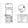 Sunsystem TDA S 200 literes hőszivattyús meleg víz tartály (A+)