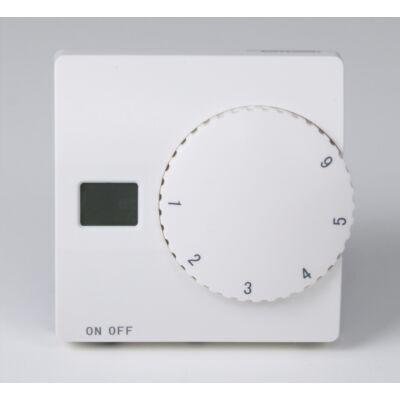 U-HEAT Manuális fali termosztát szobahőmérséklet és padlóhőmérséklet szenzorral