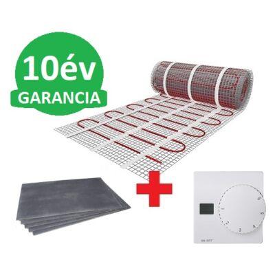 5 m2 U-HEAT fűtőszőnyeg +  5,4 m2 U-HEAT polisztirol szigetelő lap + U-HEAT Manuális fali termosztát szett