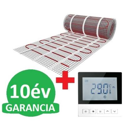 U-HEAT fűtőszőnyeg 7 m2 = 1050 W + Wi-Fi Control Digitális óratermosztát padlóhőmérséklet szenzorral