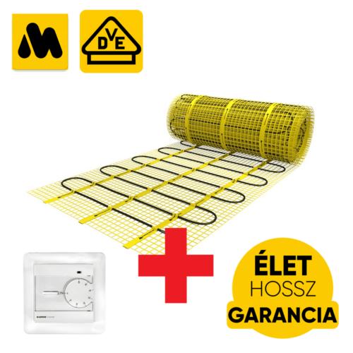 MAGNUM Mat elektromos fűtőszőnyeg, 1 m2 = 150 W termosztáttal