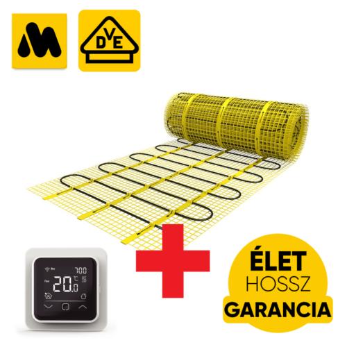 MAGNUM Mat elektromos fűtőszőnyeg 8 m2 = 1200 W elektromos padlófűtés + WI-FI Control Touch szobatermosztát szett