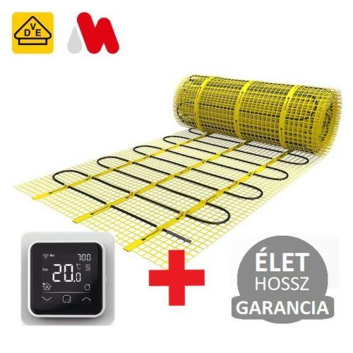MAGNUM Mat elektromos fűtőszőnyeg 15 m2 = 1875 W ( 125 Watt/m2 ) elektromos padlófűtés + WI-FI Control szobatermosztát szett