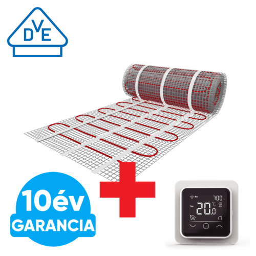 U-HEAT fűtőszőnyeg 9 m2 =  1350 W + WI-FI Control szobatermosztát szett