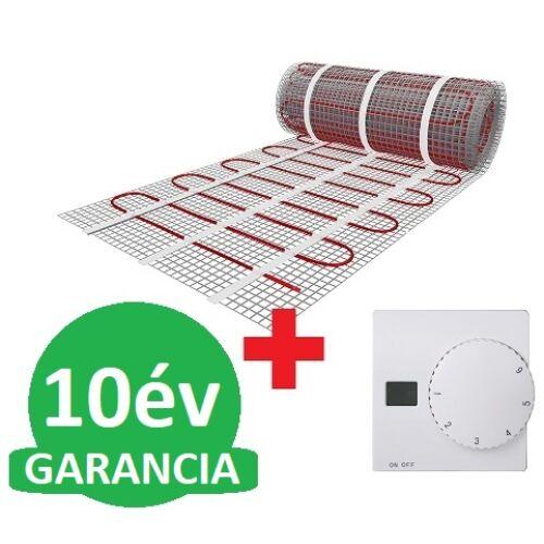 U-HEAT fűtőszőnyeg 2,5 m2 = 375 W + Manuális fali termosztát padlóhőmérséklet szenzorral szettben