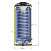 ELDOM Green Line TST felső bekötésű indirekt használati meleg víz tartály - 1 nagyméretű hőcserélővel