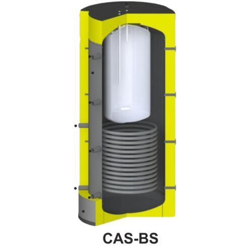 Centrometal CAS-BS 801 fűtési puffertároló - hőtárolásra és használati melegvíz előállításra - beépített szolár spirál csővel (475 liter)