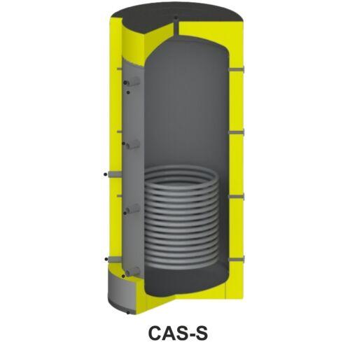 Centrometal CAS-S 801 fűtési puffertároló beépített szolár spirál csővel (475 liter)