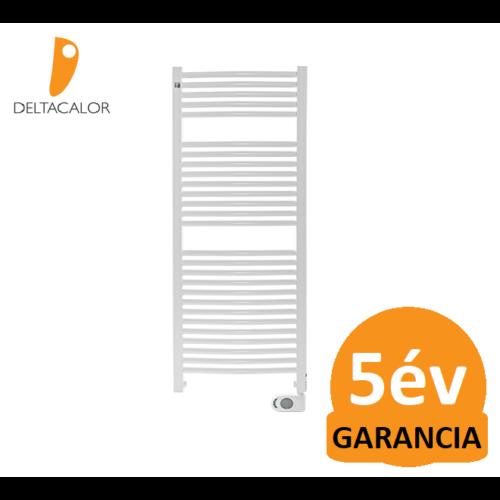 Deltacalor Recto C Mix 750 Watt központi fűtési rendszerre köthető elektromos törölközőszárítós radiátor (fehér)