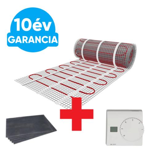 2 m2 U-HEAT fűtőszőnyeg + 2,4 m2 U-HEAT polisztirol szigetelő lap + U-HEAT Manuális fali termosztát szett