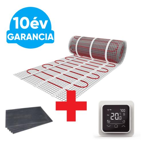 10 m2 U-HEAT fűtőszőnyeg + 10,2 m2 U-HEAT polisztirol szigetelő lap + WI-FI Control Touch szobatermosztát szett