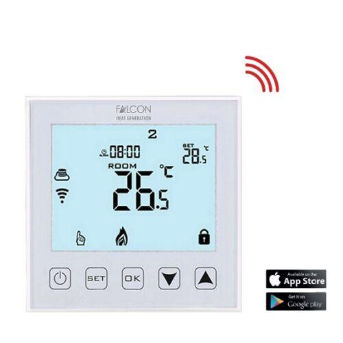 FALCON U-HEAT Wi-Fi Control-2 érintőgombos szobatermosztát padlóhőmérséklet érzékelővel - elektromos padlófűtéshez