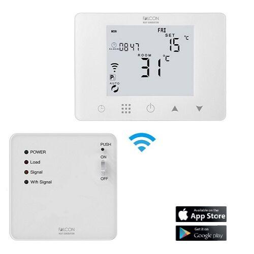 FALCON RF-WIFI Control programozható vezeték nélküli szobatermosztát fűtéshez és hűtéshez (iOS / Android)
