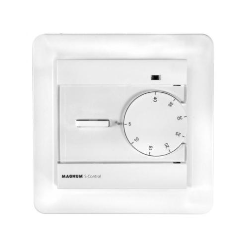 MAGNUM Standard Control manuális fali termosztát szoba hőmérséklet és padló hőmérséklet szenzorral