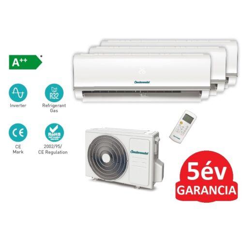 Centrometal AC-Cm MT-27000 oldalfali split hűtő/fűtő klíma 3 db beltéri egységgel (R32 - 7,9 kW)