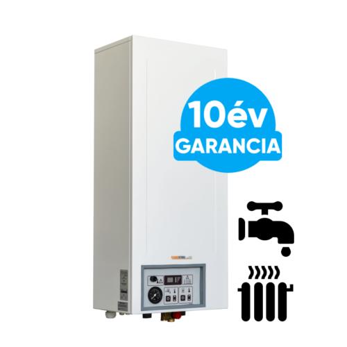 Központi fűtéshez és indirekt HMV tartállyal kiegészítve használati meleg víz előállításhoz